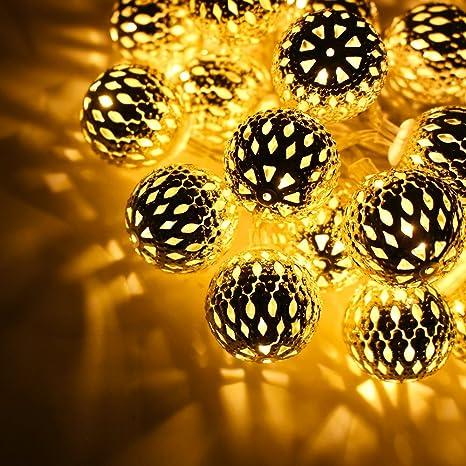 AtneP 16LED Moroccan Balls String Lights