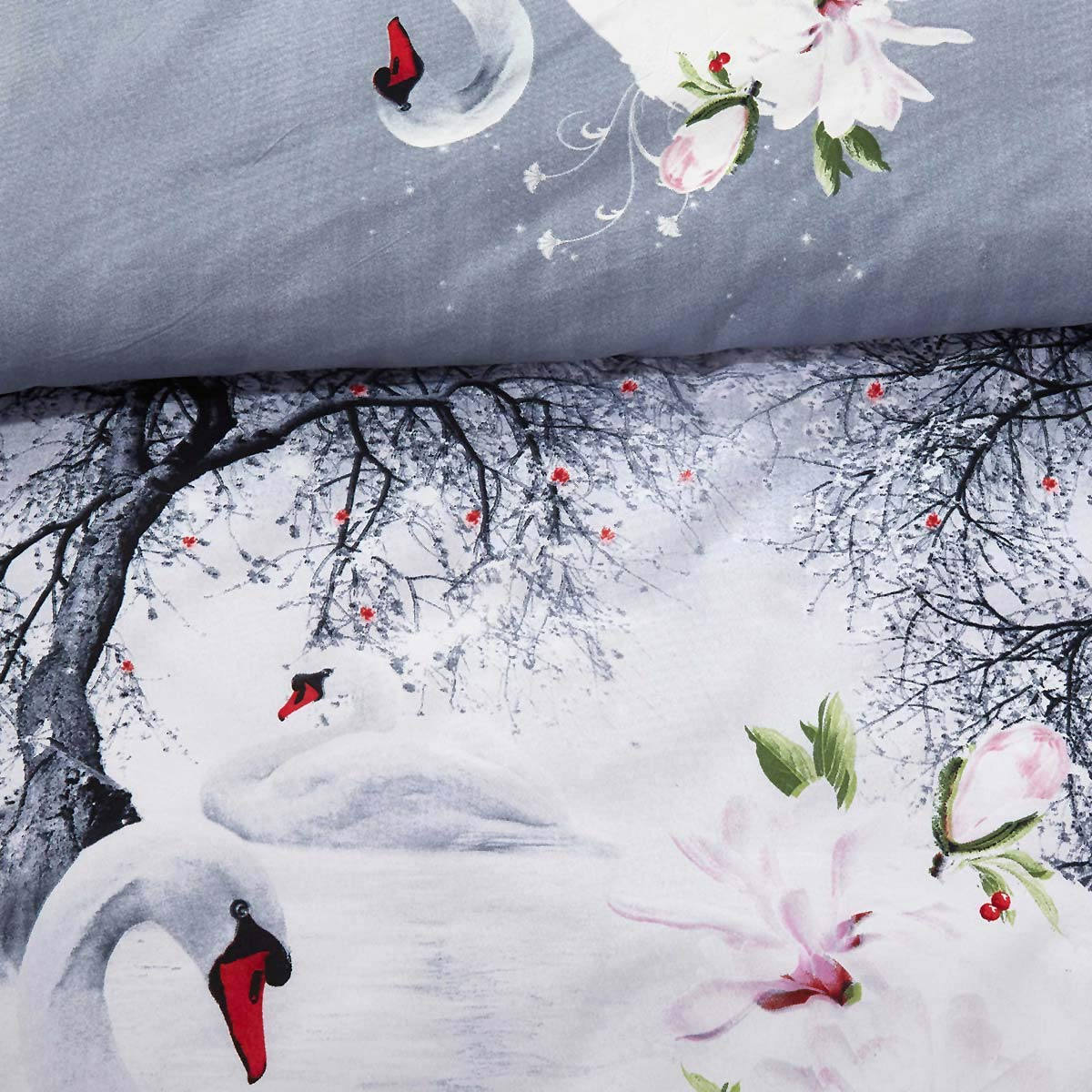 Dolce Mela DM705Q Duvet Cover Set Queen Grey