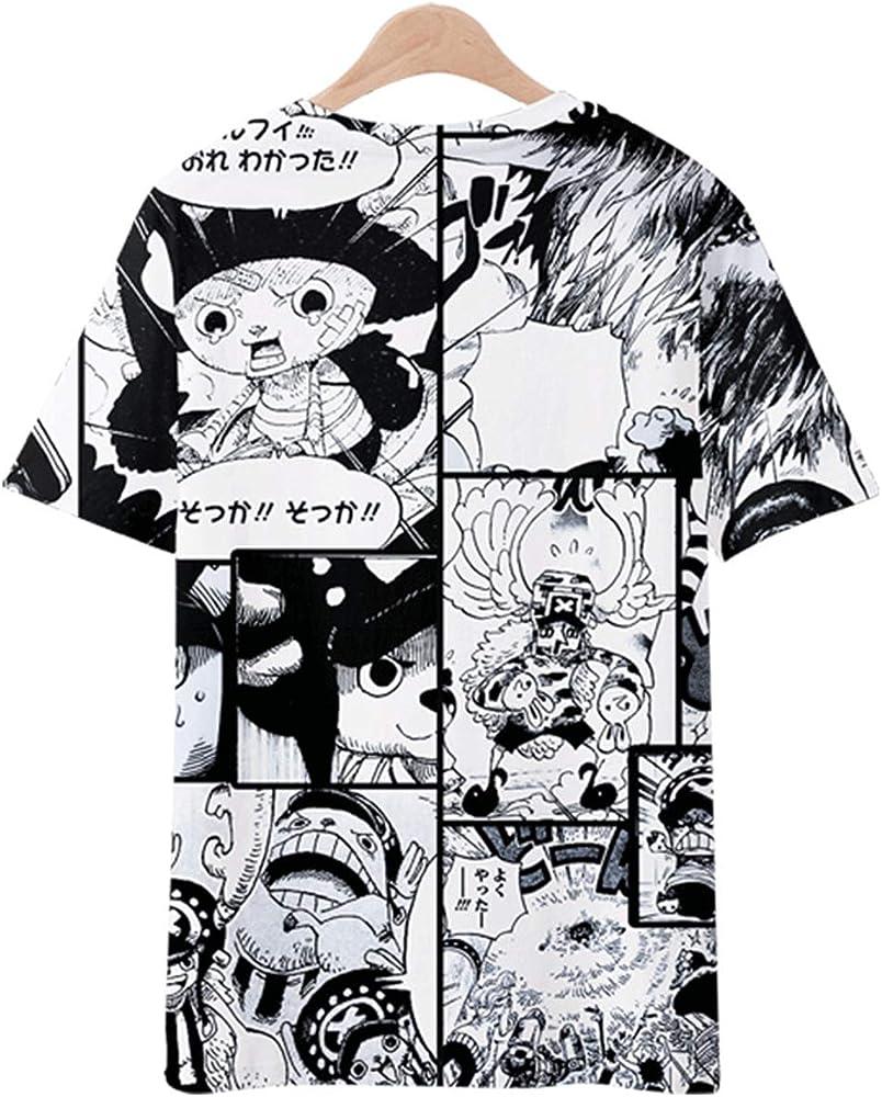 Camiseta One Piece Niño, Camiseta One Piece Hombre One Piece Deporte Casual 3D Impresión T-Shirt Camiseta de Fútbol Chicos Camisetas de Manga Corta Verano de Camisetas y Tops (A,S): Amazon.es: Ropa y