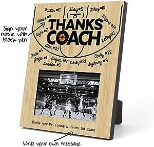 ChalkTalkSPORTS Basketball Photo Frame   Coach (Autograph) Picture Frame   Court