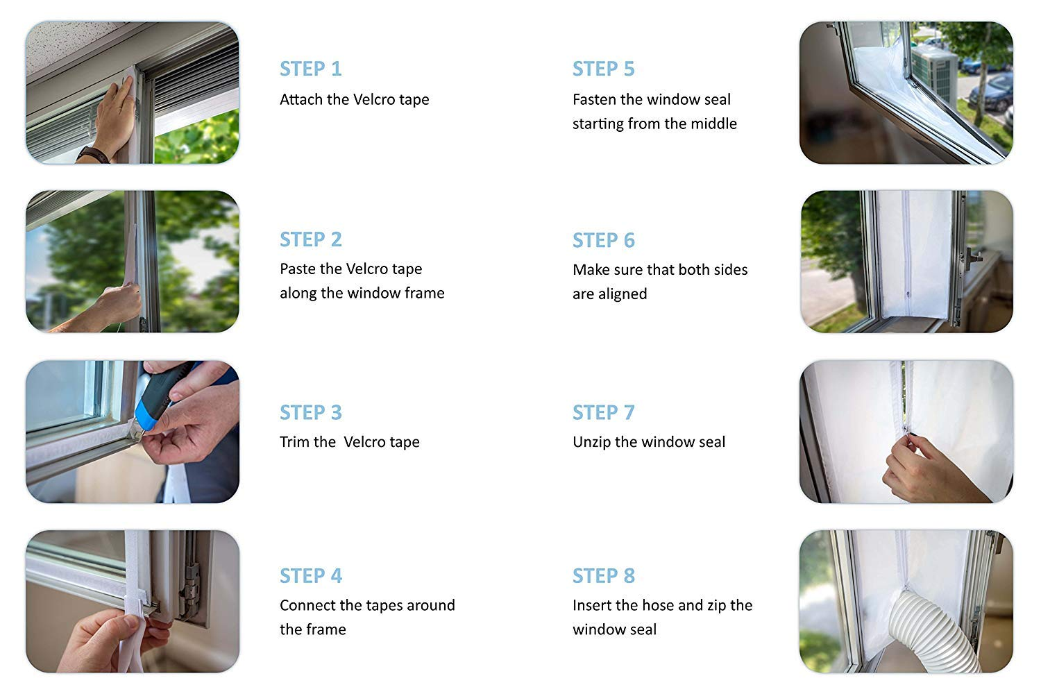 MorningRising Flexible Cloth Sealing Plate Window Seal for Portable Air Conditioner,Push and Pull Window Seal Plate,Open Window Frame Side Soft Board