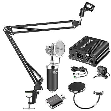 Neewer - Kit de micrófono de condensador: nw-1500, filtro ...
