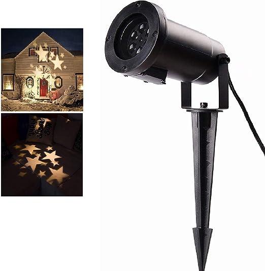 SALCAR Navidad Lámpara de Proyector con Estrellas de Color Blanco ...