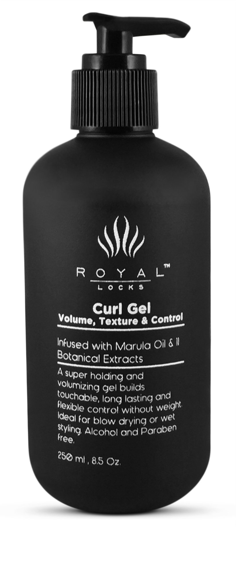 Luxury Curly Hair Defining Curl Gel infused with Marula Oil and Botanical Extracts by Royal Locks for Super Defined Soft Moisturized Curls. Alcohol Free 8.5 oz