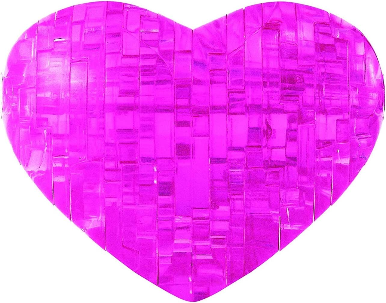 Bepuzzled Original 3D Crystal Puzzle - Heart, Pink - Fun yet challenging brain teaser that will test your skills and imagination, For Ages 12+