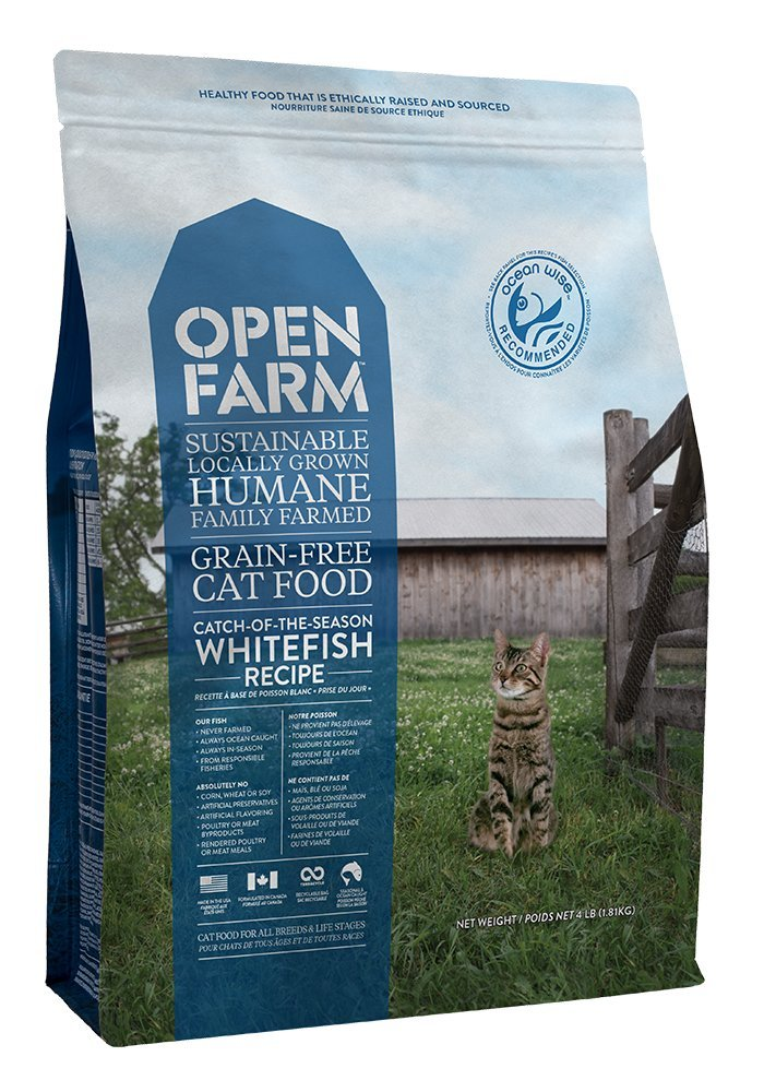 Open Farm Catch-Of-The-Season Whitefish Recipe Organic Sustainable Cat Food Net 4 LB