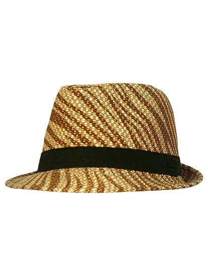3580eeb1f Luxury Divas Zebra Print Lightweight Fedora Hat