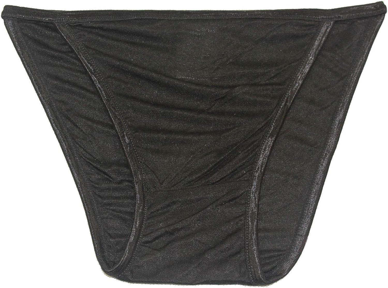 Paradise Silk Pure Silk Knit String Bikini Panties