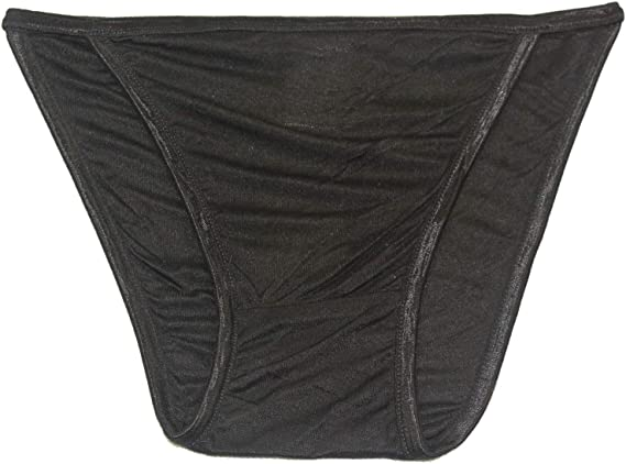 Pure Silk Knit String Bikini Panties Two Line Elastic Fixed Tang...