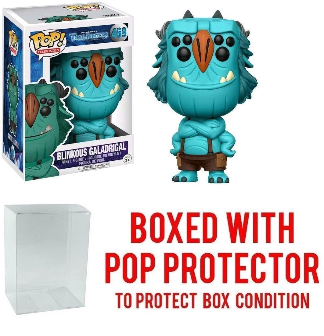 Bundled with Pop Box Protector to Protect Display Box Funko POP TV Netflix Troll Hunters Blinkous Galadrigal Action Figure
