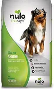 Nulo Senior Dry Dog Food - Grain Free Kibble with Glucosamine And Chondroitin