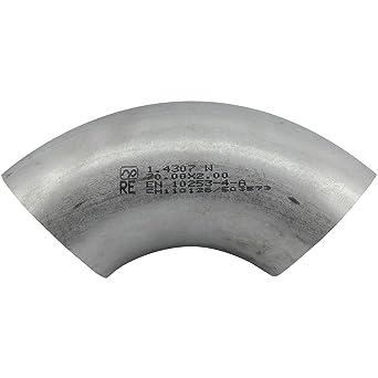 Stappert VAS7 1.4301 - Codo de acero inoxidable (90º, 30 mm ...