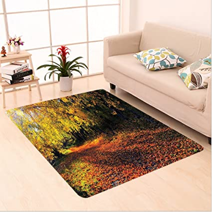 Amazon Com Nalahome Custom Carpet Fall Forest With Shady Faded