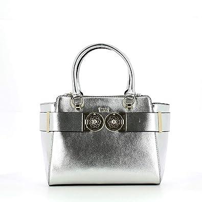 Guess Carina Society Satchel Handtasche Silver SILVER