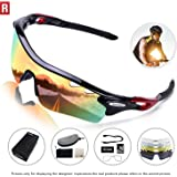 ROCKNIGHT Polarized Sports Sunglasses Men Women 5 Interchangeable Lenses Cycling Running Driving Baseball Glasses UV Protection