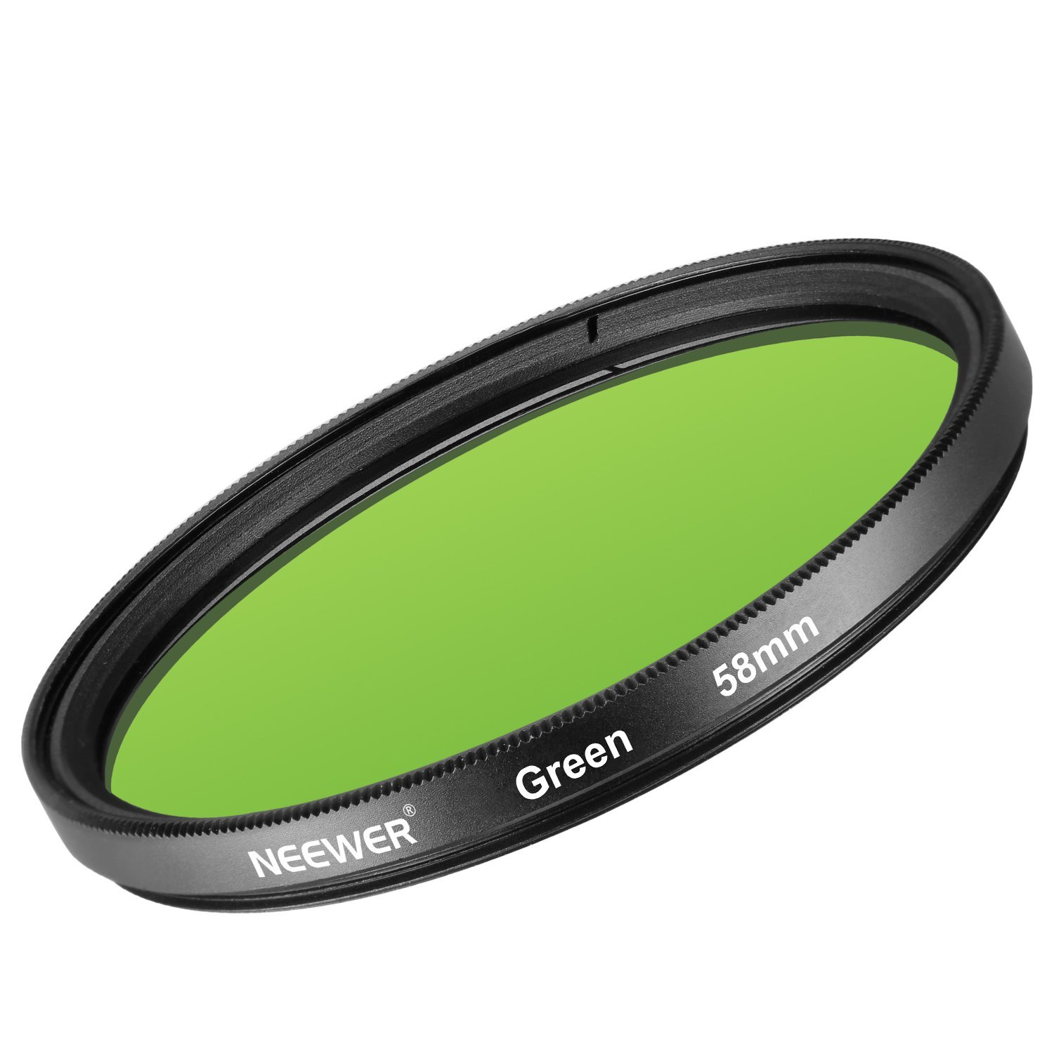 Neewer 58MM Green Lens Filter for Canon EOS Rebel T6i T6 T5i T5 T4i T3i SL1 DSLR Camera, Made of HD Optical Glass and Aluminum Alloy Frame