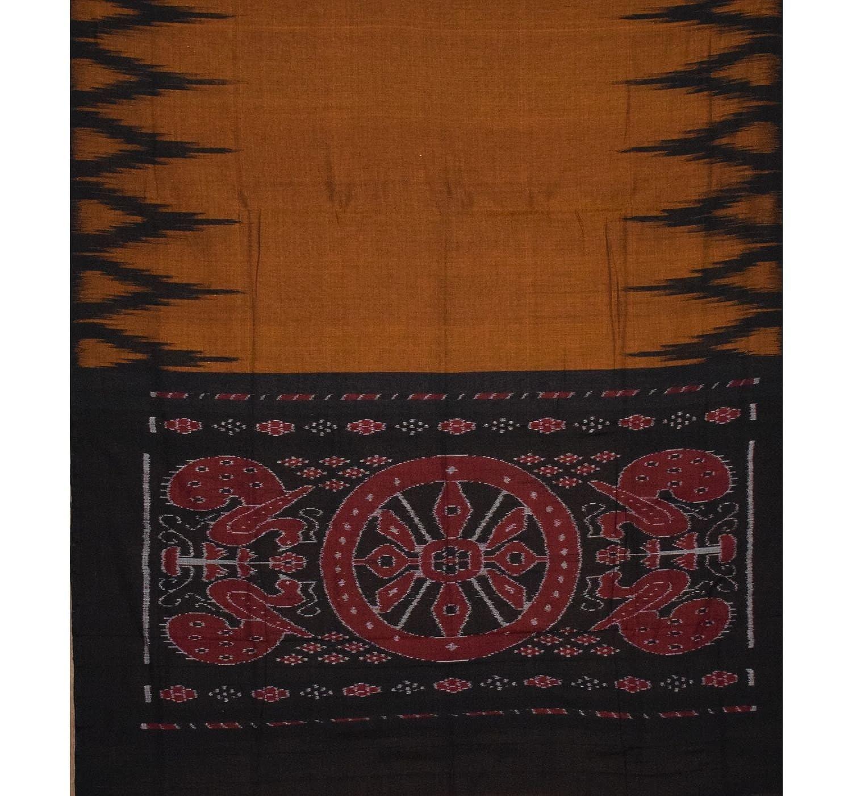 Black Color Sambalpuri Cotton Saree With Blouse Piece