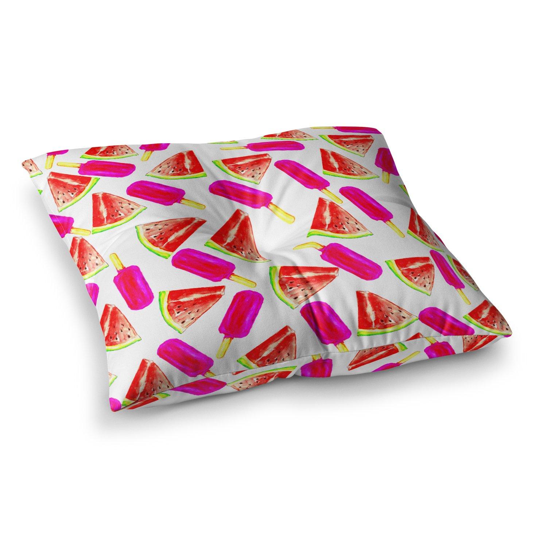 Kess InHouse Sreetama Ray Strawberry /& Watermelon Pink Red 23 x 23 Square Floor Pillow