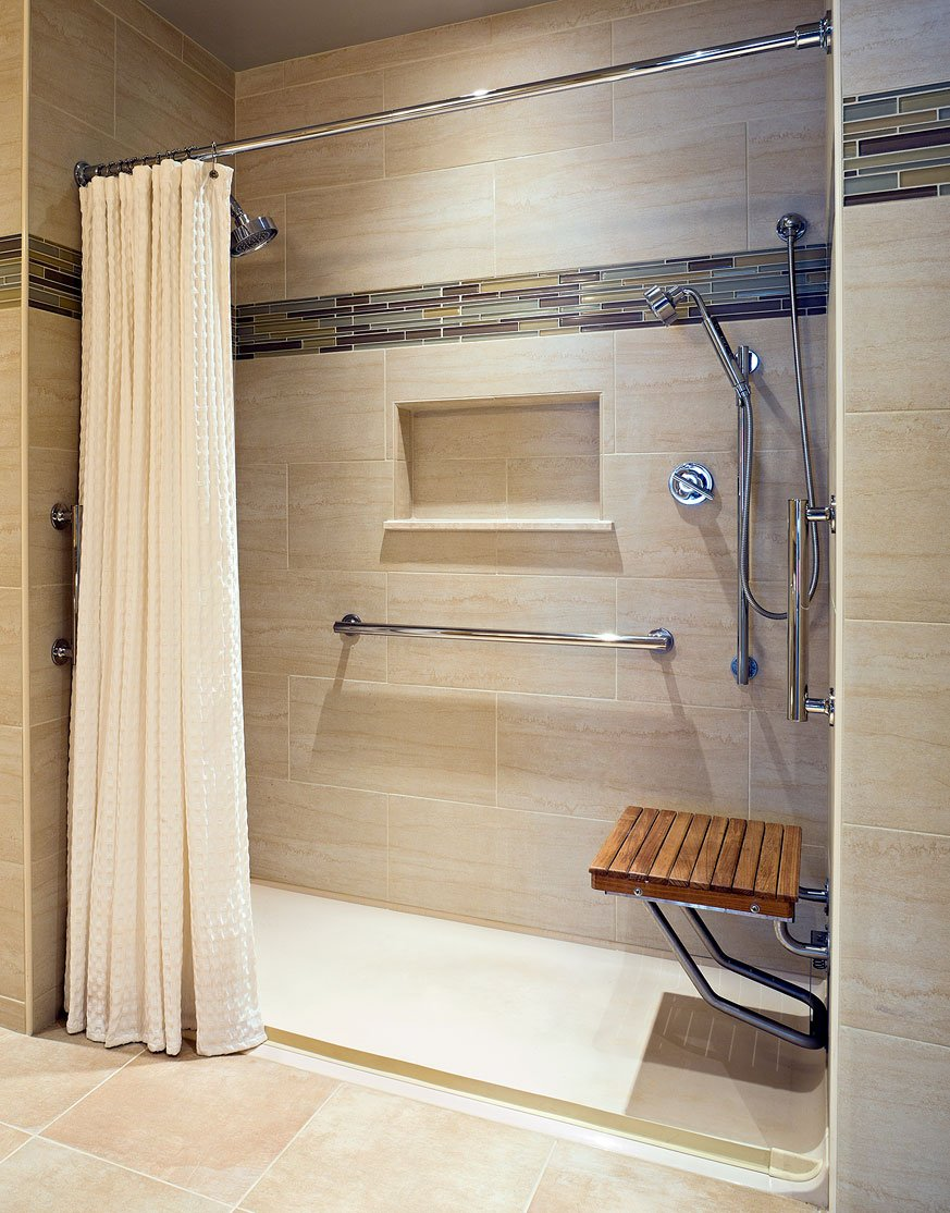 Teak ADA Wall Mounted Shower Bench/Seat (18''x16'')