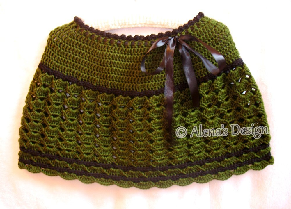 Crochet Green Black Poncho - Evening Wrap Women Accessory Ladies Warmer Christmas Winter Outfit