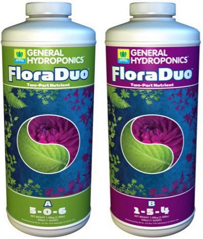 General Hydroponics 726.870.885 Floraduo A & B, 1 Quart fertilizers, Natural
