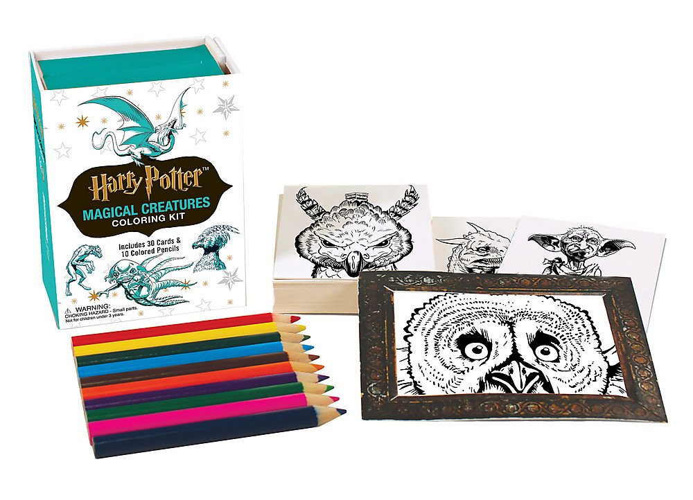 Harry Potter Magical Creatures Coloring Kit (Miniature Editions)