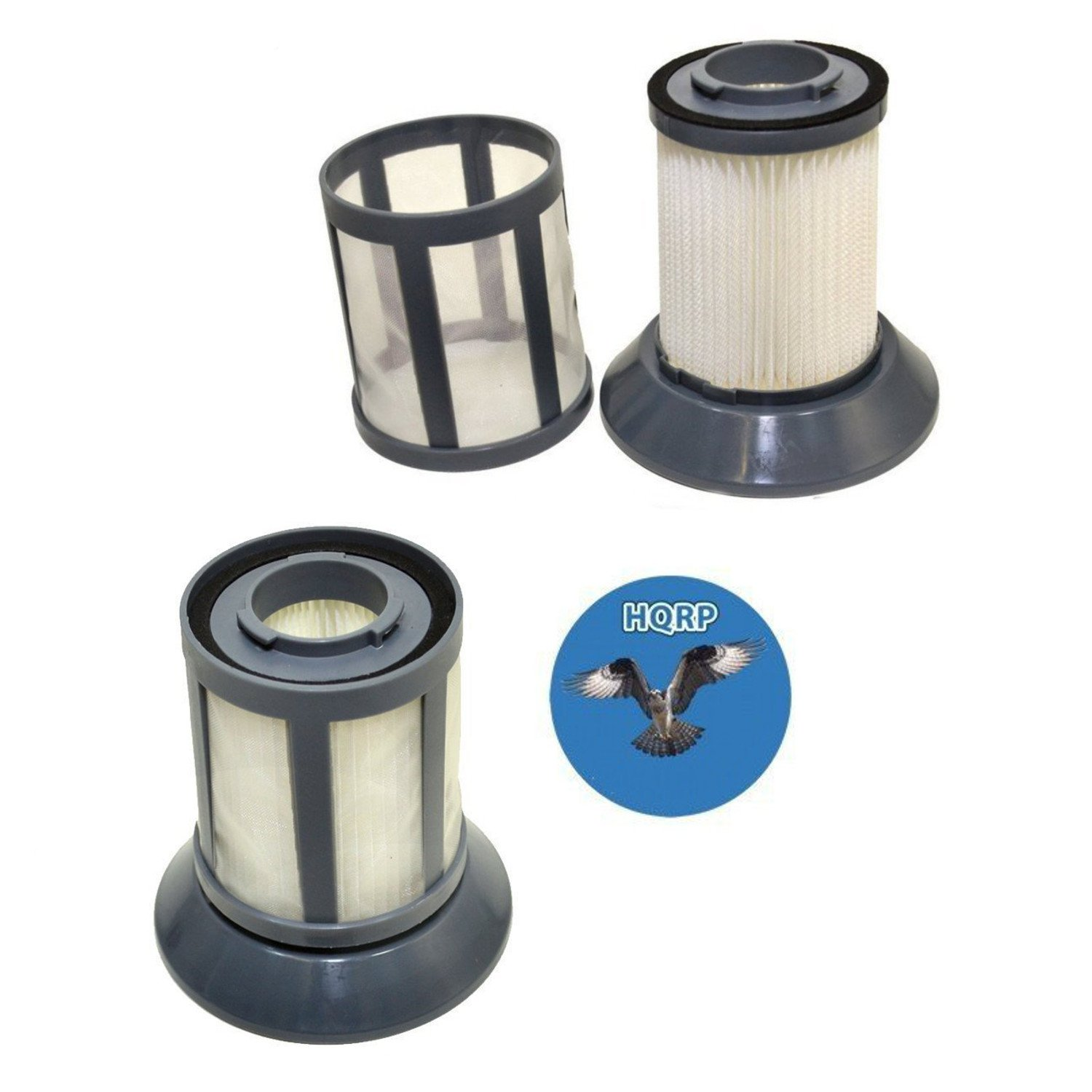 HQRP 2-pack Pre Motor Dirt Tank Filter for Bissell 1665W Powerforce Bagless Canister Vacuum Cleaner, 1608602 Replacement plus HQRP Coaster 884667807251704