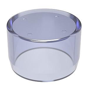 "FORMUFIT F001EEC-UV PVC External End Cap, Furniture Grade, 1"" Size, Clear"