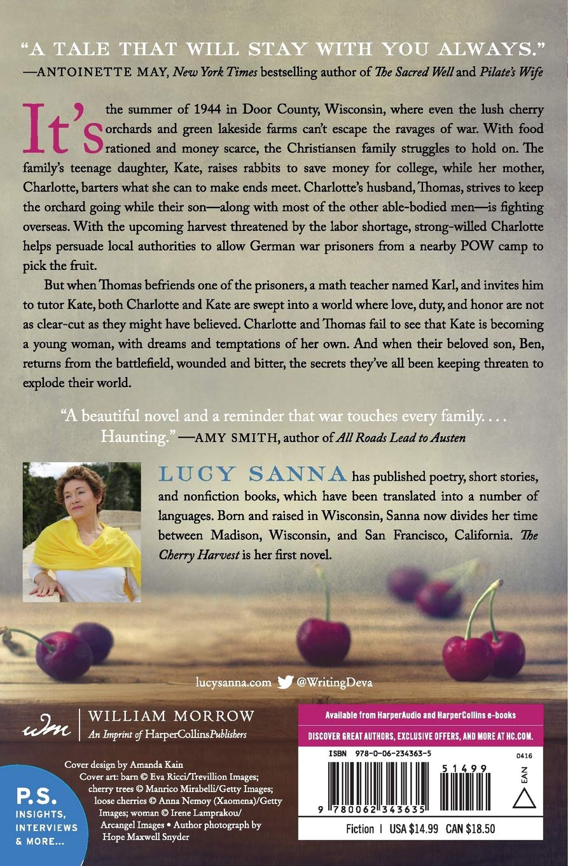 The Cherry Harvest A Novel Lucy Sanna 9780062343635 Amazon Books