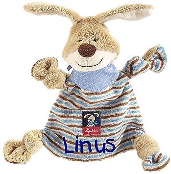4c4e6367a5 Sigikid 47893 Schmusetuch Semmel Bunny mit Namen bestickt: Amazon.de ...