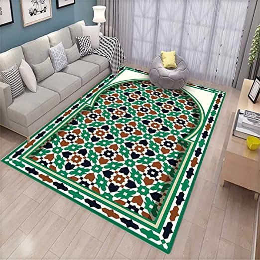 Tapis marocain antidérapant Style Moyen-Orient Arche ...