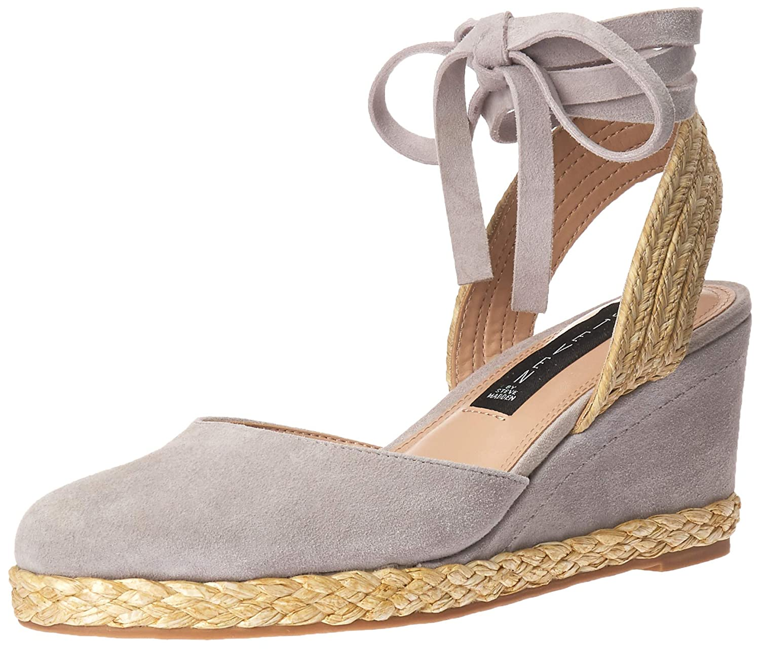 Grey Suede STEVEN by Steve Madden Womens Charly Sandal