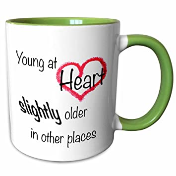 Amazoncom 3drose Evadane Funny Quotes Young At Heart Slightly