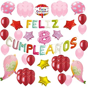 COTIGO-Globos Feliz Cumpleaños Happy Birthday Fiesta Party ...