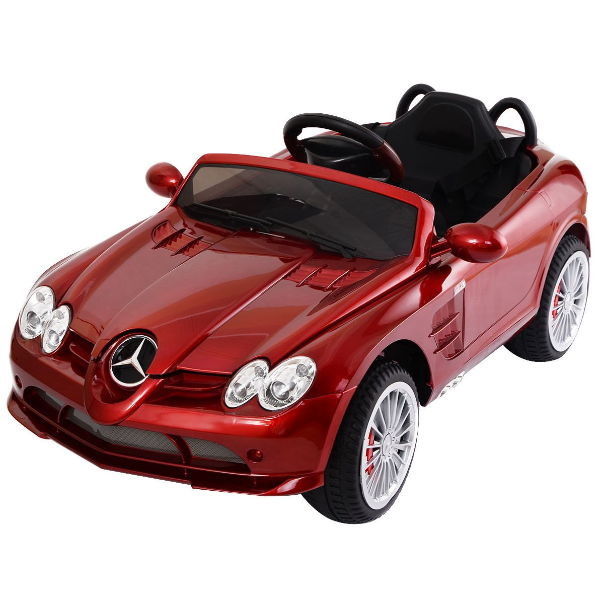 Costzon Kids Ride On Car, 12V Licensed Mercedes Benz R199, Electric Car with MP3 Remote Control (Red) by Costzon