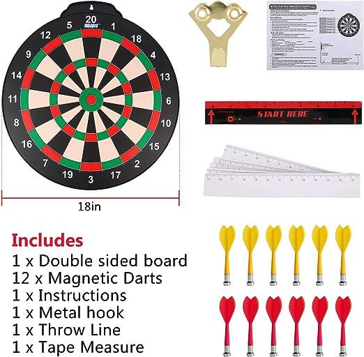 Yuham Freccette magnetiche per interni ed esterni da appendere ovunque per giochi per bambini e adulti con 12 freccette sicure