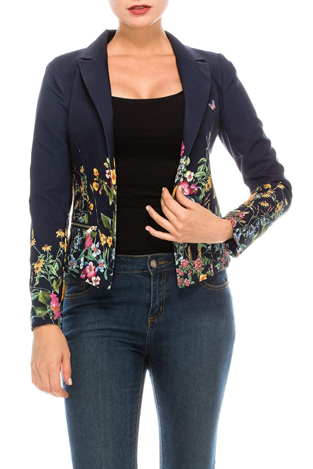 RolyPoly Womens Casual Work Office Open Front Blazer Jacket