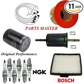 Tune Up Kit Air Cabin Oil Fuel Filters Wire Spark Plug FIT FORD MUSTANG V6 4.0L 2005-2010