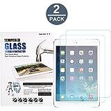 (2 Pack) iPad Mini 1 2 3 Screen Protector, Abestbox 9H HD Premium Tempered Glass for iPad Mini1 / Mini2 / Mini3, Ultra Thin (0.26mm), 99.9% Light Transmission, Most Durable