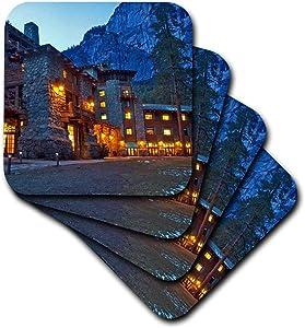 3dRose Ahwahnee Lodge, Yosemite Np, California, USA - Us05 Cha0115 - Chuck Haney - Soft Coasters, Set of 4 (CST_88309_1)