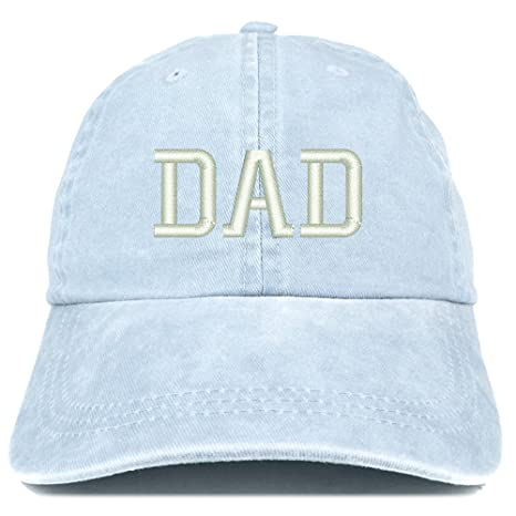 a52a4fb797f21 Trendy Apparel Shop Dad Embroidered Pigment Dyed Low Profile Cotton Cap -  Black at Amazon Men s Clothing store