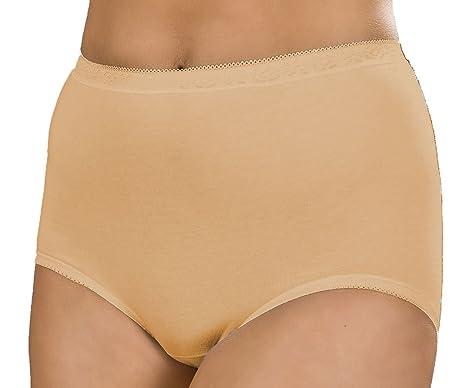 Womens Plain High Waist Maxi Briefs Ladies Cotton Knickers Size 12-20 3  Pairs ( 67cc5da5c00c