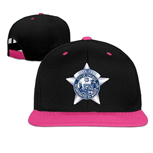 Fitalldoit-Caps Unisex Chicago Police Department STA snap-Back Cap Pink One  Size 5d606a0517b