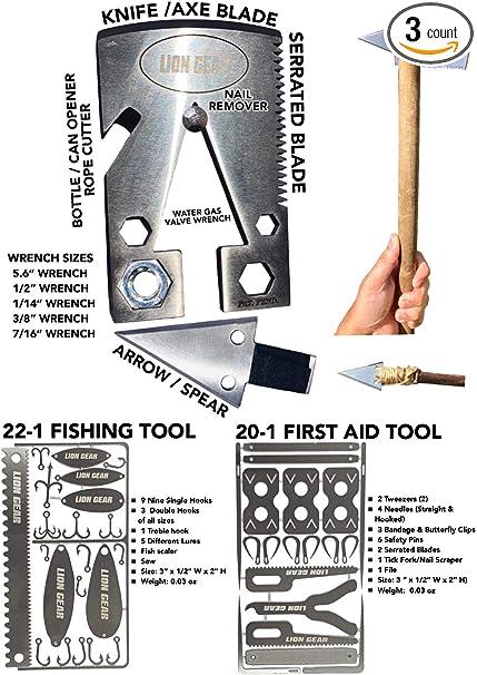 17 In 1 Fishing Gear Card Multi-Tool Camping Survival Tools Hunting Survival ~jp