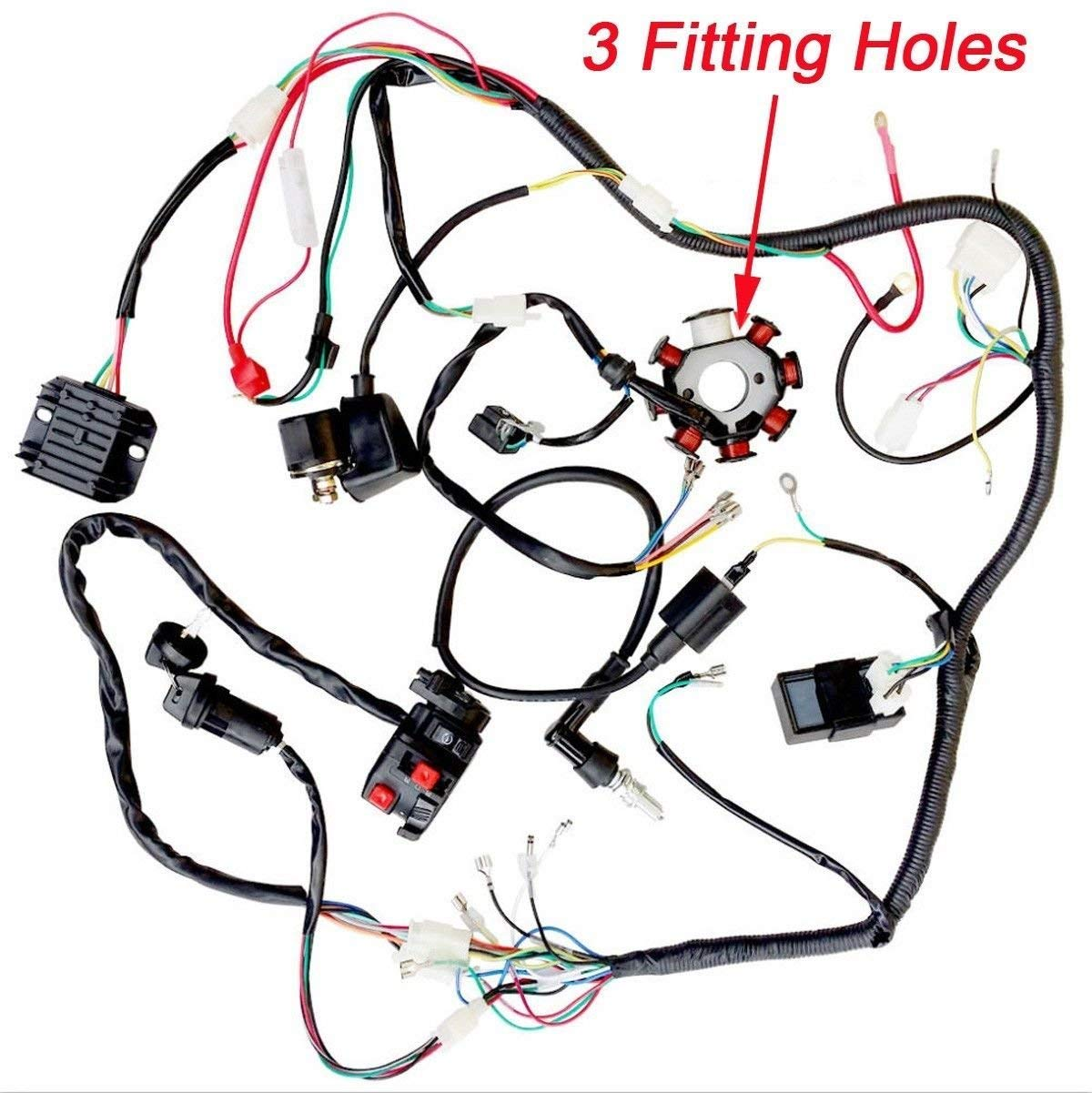 amazon jikan annpee plete electrics wiring harness wire loom 4 Stroke Engine Animation Put Together amazon jikan annpee plete electrics wiring harness wire loom magneto stator gy6 4 stroke engine type 125cc 150cc pit bike scooter atv quad