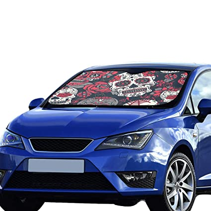 Sunshades For Cars >> Amazon Com Windshield Sunshades For Cars Day Of The Dead