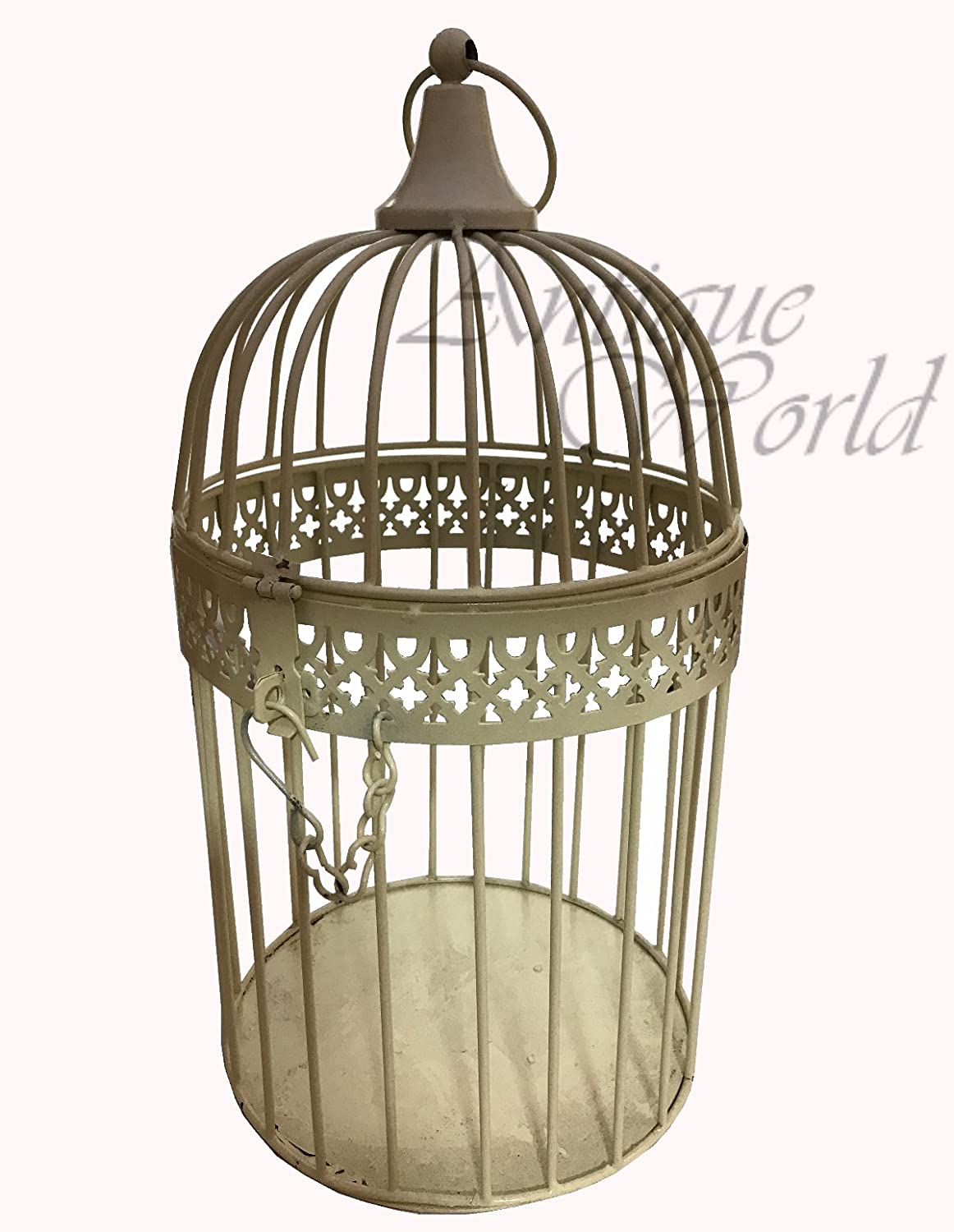 Antiques World Medium Size Vintage Theme Look Bird Cage Made Of Metal Home Art Decor Collectible AWUSASI 07