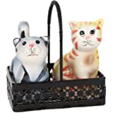 Trenton Gifts Cat Salt And Pepper Shaker In Wire Basket
