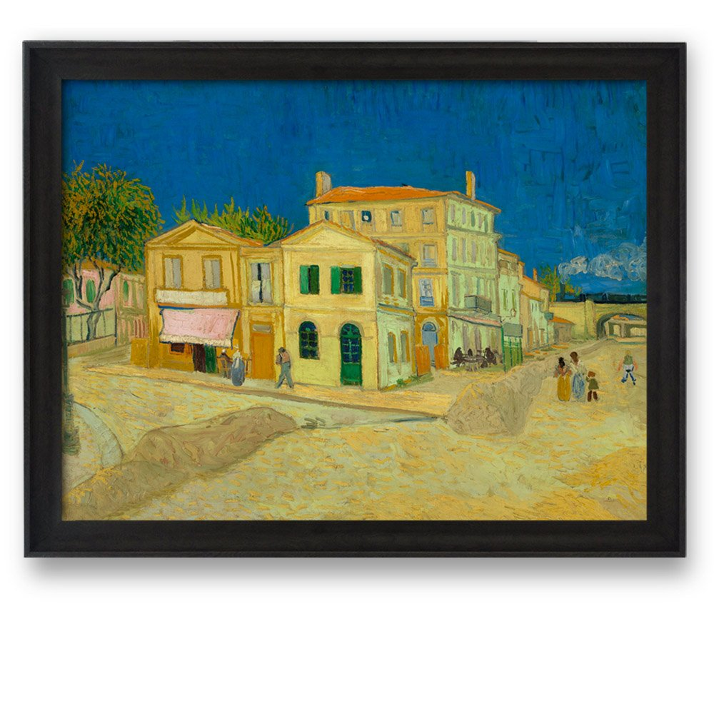 The Yellow House by Van Gogh Framed Art Print Famous Painting Wall ...