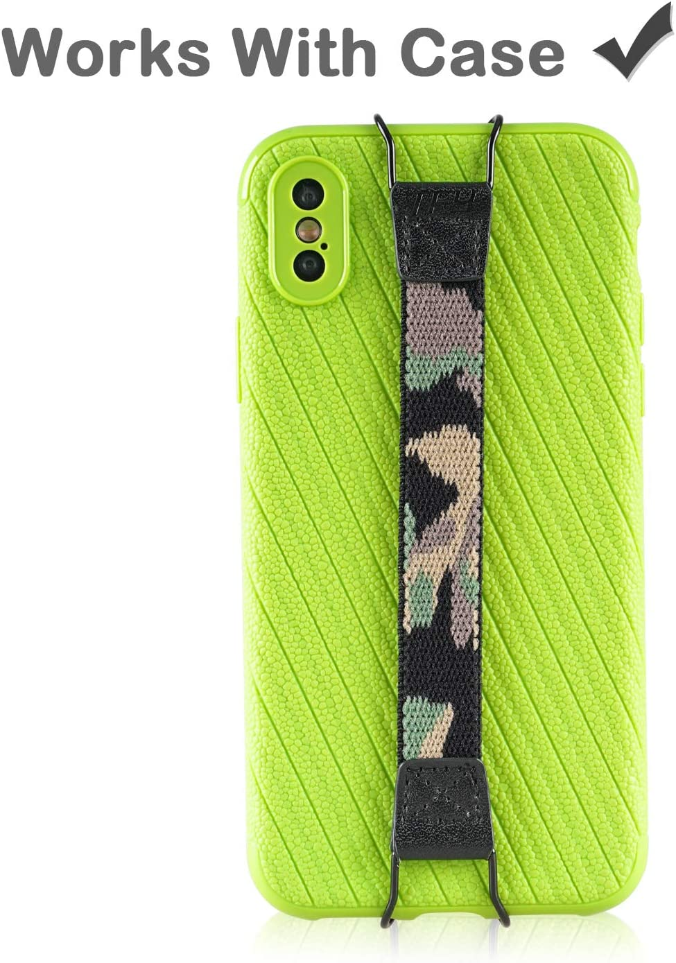 8//7 Plus Camo 6 and Other Smartphones iPhone Xs Max//Xs//XR//X 8 Plus Hand Strap Holder TFY for iPhone,Samsung /& Huawei 7//6 Plus
